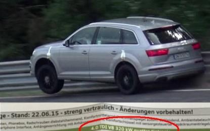 Audi uskoro predstavlja supersnažnog dizelaša SQ7