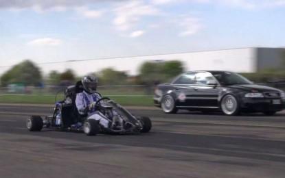 Najsnažniji karting u trci ubrzanja sa Audijem S4 snažnijim od bilo kojeg Ferrarija [Video]