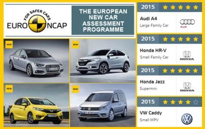 Tri petice od četiri najnovija testa sigurnosti u EuroNCAP-u [Video i Galerija]