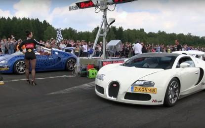 Trka dva Bugattija Veyrona ipak je iznjedrila pobjednika [Video]