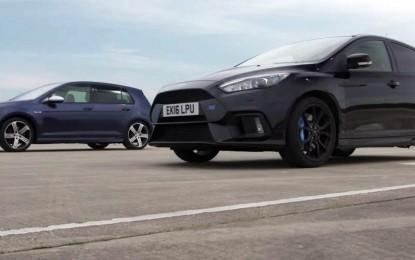 VW Golf R i Ford Focus RS odmjerili snage ali snažniji Ford nije uspio dominantno pobijediti [Video]