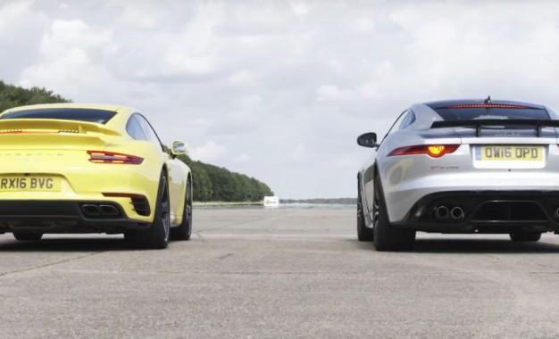 Porsche 911 Turbo i Jaguar F-Type SVR u trci ubrzanja za titulu najboljeg [Video]