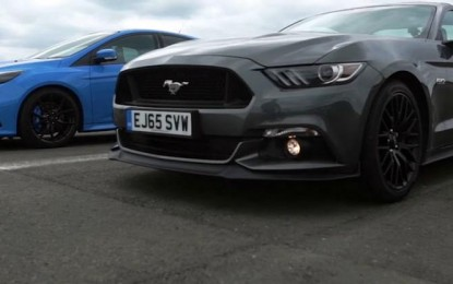 TopGear napravio vrhunsku trku Forda Focusa RS-a i Forda Mustanga GT-a