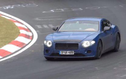 Nova generacija Bentley Continental GT stiže sa novim W12 motorom – Prototip na Nürburgringu [Video]