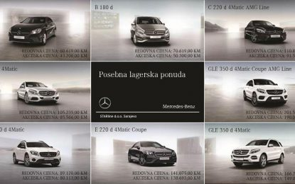 Prodajna akcija lagerskih vozila Mercedes u STARlineu
