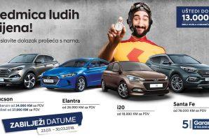 """Hyundai u BiH pripremio prodajnu akciju """"Sedmica 'ludih' cijena"""" u kojoj se možete uštedjeti čak i 13.000 KM"""