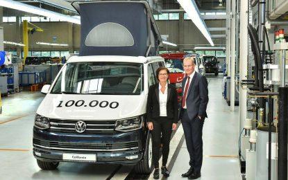 Volkswagen California – proizvedeno 100.000 primjeraka u tvornici Hannover-Limmer