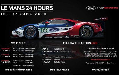 Ford Chip Ganassi Racing će sa četiri bolida Ford GT nastupiti ove godine na trci 24h LeMansa