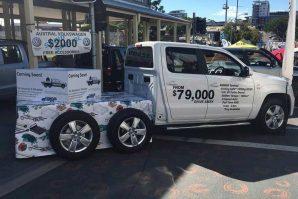 Australski Six Wheel Conversions priprema Volkswagena Amaroka sa tri osovine, ukupne dozvoljene mase 4,5 tona i korisne nosivosti 1,7 tona