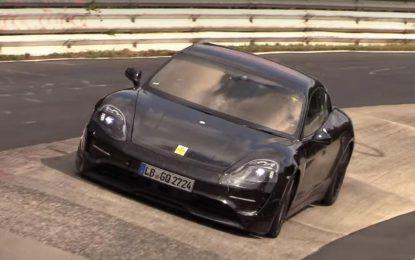 Električni Porsche Taycan na završnim testiranjima na Nürburgringu [Video]