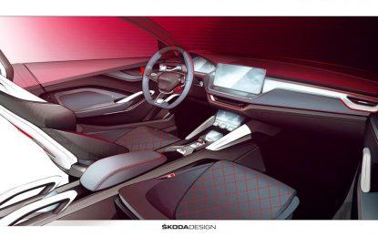 Nakon predstavljenog eksterijera Škode Vision RS, prije zvanične svjetske premijere planirane za sajam automobila u Parizu, prikazane skice i enterijera [Video]