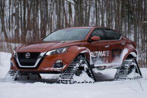 Zimskih prepreka nema za Nissan Altimu AWD na gusjenicama [Galerija i Video]