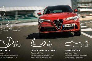 Tri nova brzinska rekorda na britanskim stazama za Alfa Romeo Stelvio [Video]