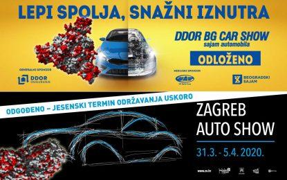 Još dvije automobilske žrtve corona virusa – otkazani sajmovi automobila u Beogradu i u Zagrebu