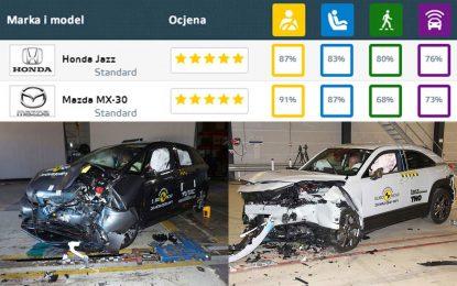 Mazda MX-30 i Honda Jazz – dva mala porodična automobila odlikaši na EuroNCAP-ovom testu sigurnosti [Galerija i Video]