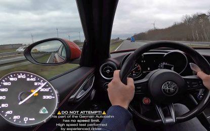 Alfa Romeo Giulia Quadrifoglio – maksimalna brzina je dostižna [Video]