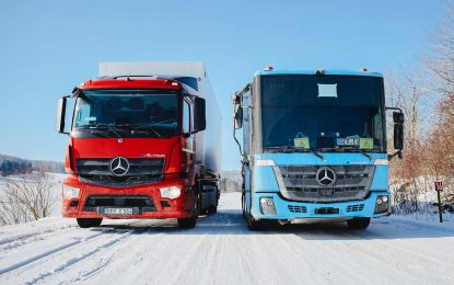 Mercedes-Benz eActros i eEconic na zimskim testovima
