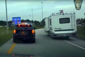 SAD: Pogledajte dramatičnu potjeru za velikim kamperom [Video]