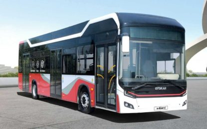 Otokar e-Kent C: Novi turski električni autobus s baterijama Webasto