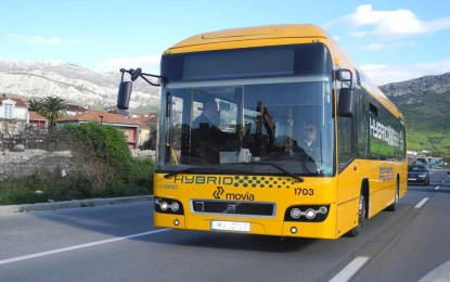 ProAuto na promotivnoj vožnji hibridnog autobusa Volvo Hybrid 7700
