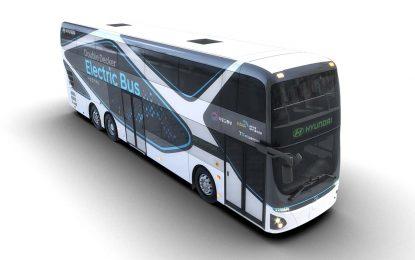 Hyundai predstavlja svoj prvi dvospratni električni autobus (Electric Double-Decker Bus)