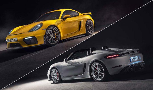 Porsche 718 Spyder i Porsche 718 Cayman GT4 [2019]