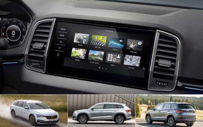 Škoda Karoq, Kodiaq i Superb s novim sistemom infotainmenta