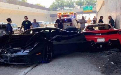 Philadelphia: Objavljen snimak sudara tri Ferrarija [Video]