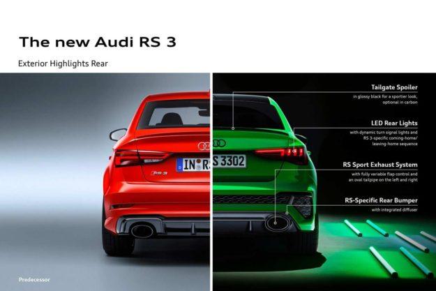 Audi RS3 [2021] Noviteti